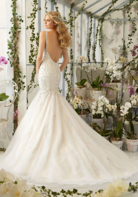 Mori Lee Bridal Gown 2823 Aria Size 12