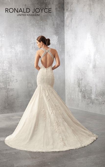 Ronald Joyce Bridal Gown 69165 Alba Size 14