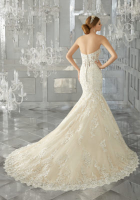 Mori Lee Bridal Gown 8193 Melrose Size 14