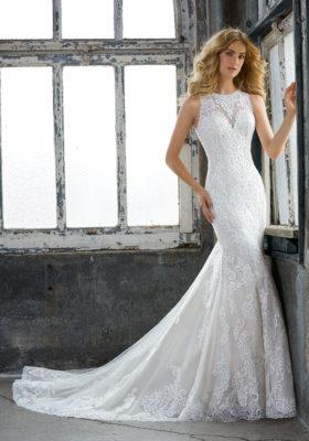 Mori Lee Brida Gownl Krista Style 8205 Size 14