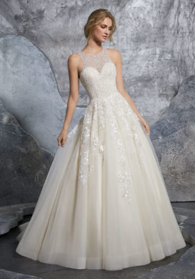 Mori Lee Bridal Gown Kiara 8215 Size 12
