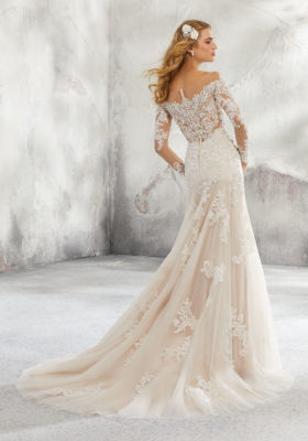 Mori Lee Leighton Style 8293 Ivory Size 14 and Size 18