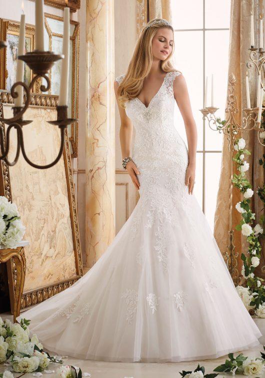 Morilee Bridal Gown 2872 Elizabeth Size 12