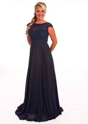 Bridesmaid PF 9288 available in Midnight Blue or Blush