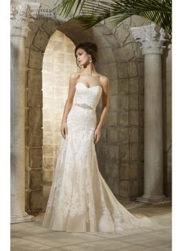 Mori Lee Bridal Gown 'Rebecca' Style 5361 Gold size 16