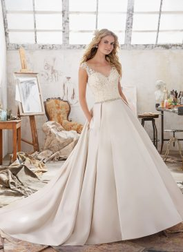 Mori Lee Bridal Gown 8103 Maclaine Size 14